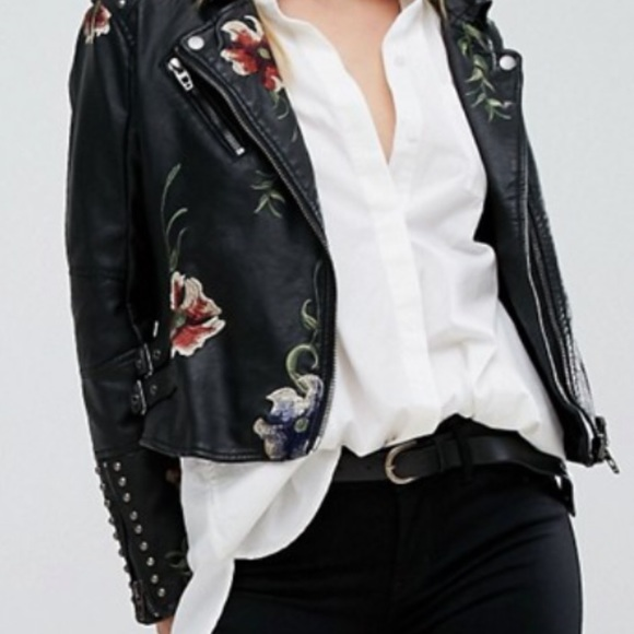 Blank NYC Jackets & Blazers - Studded, embroidered moto jacket.